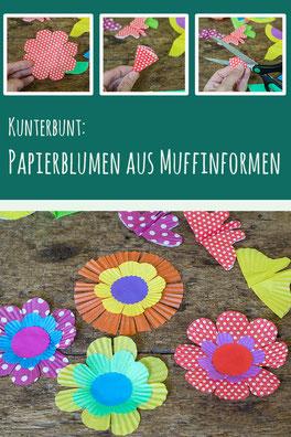 Papierblumen aus Muffinformen