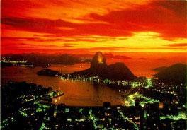 Rio de Janeiro. Leme is the beach behind the Sugar Loaf