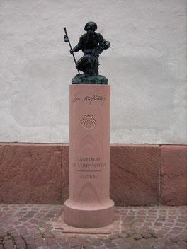 Skulptur zum Jakobsweg in Miltenberg