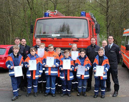 Jugendfeuerwehr Team Lübo Feuerwehr Urkunde Jugendflamme