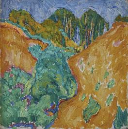 Walter Ophey: Sandbruch, 1910, Öl auf Leinwand, 50,5 x 50,5 cm
