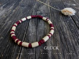Individuelles Armband mit deinem Wunschtext aus Morsebuchstaben - mit Liebe handgemacht vom kleine Schmuck-Label Majuki