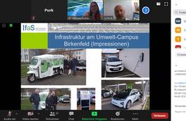 Prof. Dr. Heck präsentiert die Einbindung von Elektromobilität am Umwelt-Campus Birkenfeld