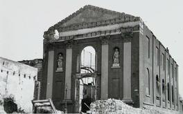 Rooms-Katholieke kerk na bombardement van 17 mei 1940 ©Beeldbank Zeeuwse Bibliotheek