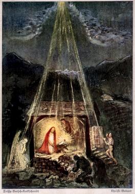 """""""Christi Geburt"""" Postkarte nach einem Bild von Trissy Batsch-Kalckschmidt"""