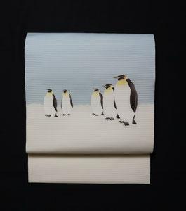 絽塩瀬・南極のペンギン