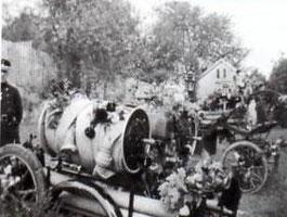 Motor, Saug- und Druckspritze der Firma Magirus