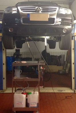 Automatikgetriebe-Ölspülung