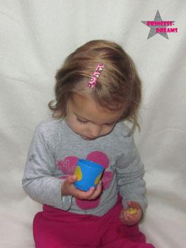 Baby Mädchen Haarspange Haarclip Blumenspange Spange Schleifenspange Schleife Blume perfekt um das Outfit Set Kleid noch perfekt zu machen Haarspange Haarschleife