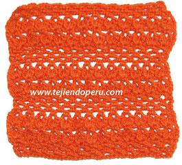 Punto fantasía con piñas y red tejido a crochet