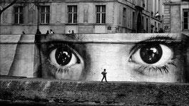 by JR, Paris
