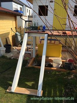 Treppe Leiter selbst bauen Stelzenhaus