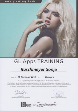 Ansicht eines Teilnahmezertifikats von Great Length von Sonja Ruschmeyer