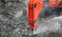 GH-15, rock breaker, hydraulic hammer, construction attachment, equipment, excavator, crusher, cruncher, pulverizer, shear, multiprocessor