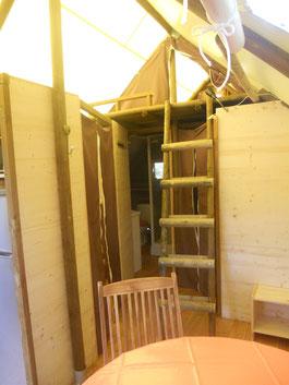 La chambre mezzanine pour les ados