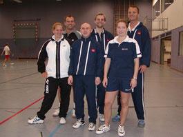 2.Mannschaft v.l.: Pia Höhmann, Andreas Rottmann, Karsten Jörgens, Martin Raulfs, Christina Weck und Christian Bauer