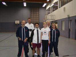 4.Mannschaft v.l.: Peter Röder, Michael Rottmann, Ismail Demircan, Danny Blaß, Hanni Müller und Melanie Blankennagel