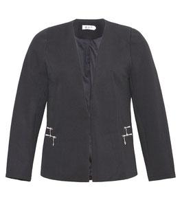 elegante schwarze Jacke in grossen Grössen