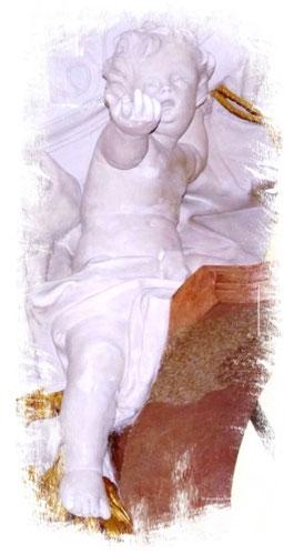 Einladender Engel, Zisterzienserabtei Ebrach