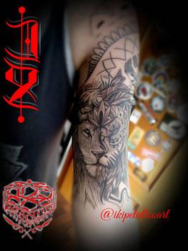 tatuaje black and grey blanco y negro sombras realismo inspiracion cover ojo mano fatima