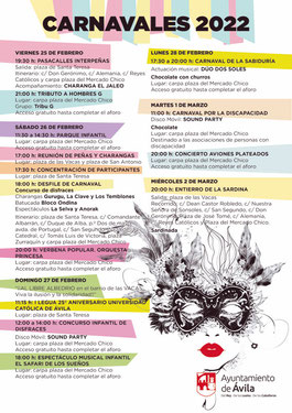 Cartel y programa del Carnaval de Ávila