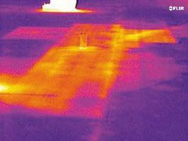 Thermographie Flachdach undichte Stelle