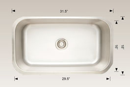 hu207009 bosco undermount sink