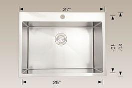 bosco  drop in kitchen sink t202221
