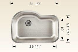bosco  undermount kitchen sink 207025