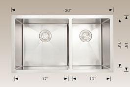bosco  undermount kitchen sink 203317l