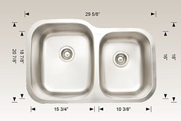 hu207013 bosco undermount sink