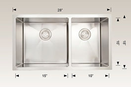 208011 bosco undermount sink