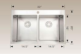 bosco  drop in kitchen sink t203325