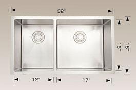 bosco  undermount kitchen sink 203323r