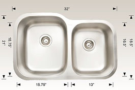hu207002 bosco undermount sink