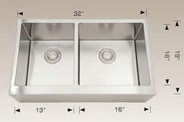 bosco  undermount farmhouse kitchen sink  203624