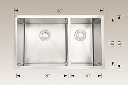 bosco  undermount kitchen sink 203322l