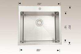 bosco  drop in kitchen sink t202233