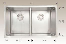 bosco  undermount kitchen sink 203318m