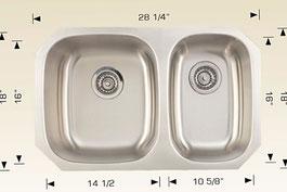 bosco  undermount kitchen sink 207028
