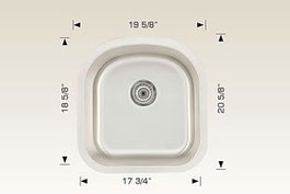 hu207014 bosco undermount sink