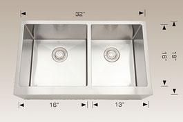 bosco  undermount apron farmhouse kitchen sink  203623