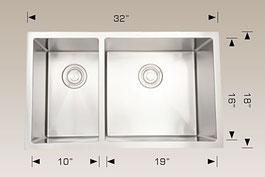 bosco  undermount kitchen sink 203324r