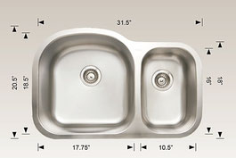hu207003 bosco undermount kitchen sink