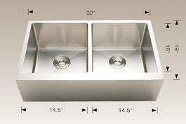 bosco  undermount farmhouse apron kitchen sink  203622