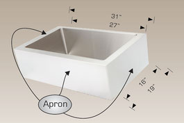 bosco  undermount farmhouse kitchen sink 203348