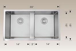 bosco  undermount kitchen sink 203328m3