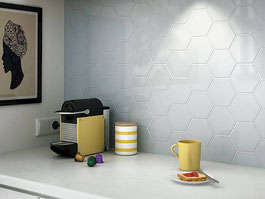 ceramic wall tile - Scale Hexagon