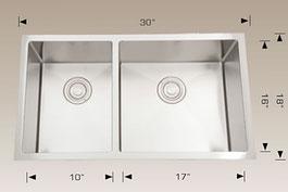 bosco  undermount kitchen sink 203317r