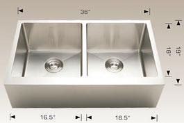 bosco  farmhouse apron kitchen sink 203625